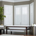 Composite Shutters for Bathroom by Southwest Blinds and Shutters