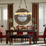 Composite Shutters in Dining Room by Southwest Blinds and Shutters