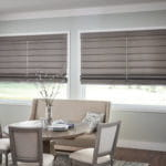 Elegant Roman Shades by Southwest Blinds and Shutters