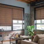 Fabric Shades - Living Room