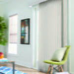 Vertical Blinds in Living Room by Southwest Blinds and Shutters