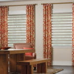 Graber Layered Dining Room Dual Shades by Southwest Blinds and Shutters