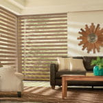 Graber Layered Dual Shades Living Room - Southwest Blinds and Shutters