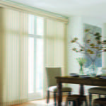 Sheer Vertical Blinds in Dining Room by Southwest Blinds and Shutters