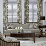 Wood Shutters in Living Room by Southwest Blinds and Shutters
